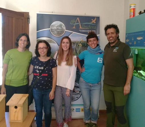 The Life Regenera Limia Project has visited the actions in wetlands of the Life Albufera Project
